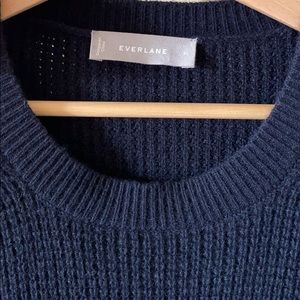 Everlane cashmere waffle square crew sweater XL